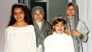 My four children, pretending to be angels, 12/96