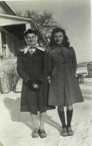 Mom (L) and Aunt Sophi (R) as young teens.