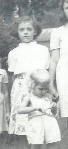 Nancy and me outside Bochi's house, about five years earlier.