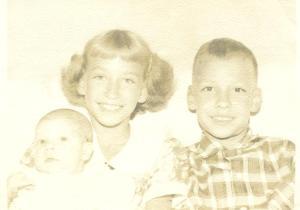 Baby Susan, me, David