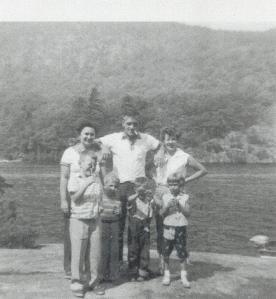 Back: Mom, Bob, Pauline Front: Phillip, Gary, David, me