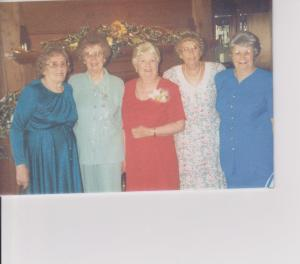 Five Loving Sisters L-R Aunt Nellie, Aunt Sophi, Mom, Aunt Mary K., Aunt Ann