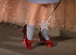 Magic shoes with a secret that Glenda kept to herself until the last minute.