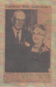 Grandma and Grandpa's 50th wedding anniversary.