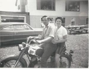 Baby-face Daddy-O and Mom, a few years later (1969)