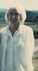 Oh no, years later I still have a white uniform and a hair net!
